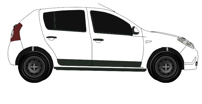 Carlos desenhos of cars sandero