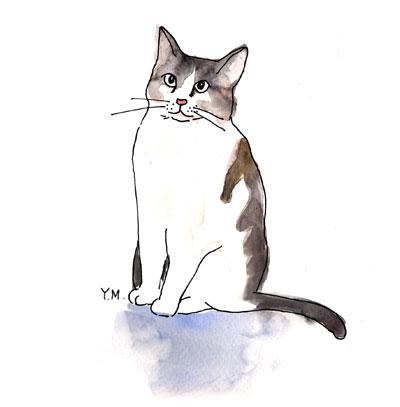 Cat by Yukié Matsushita