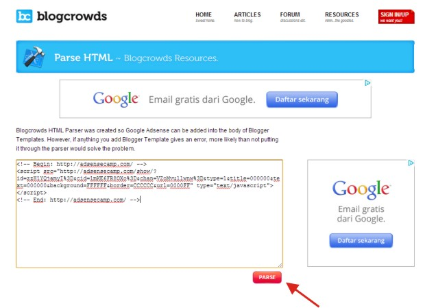 Cara Pasang Iklan Secara Otomatis di Akhir Postingan Blog
