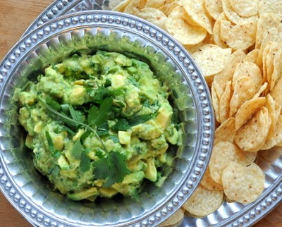 Homemade Guacamole with Tomatillos, great flavor, lightened up with low-cal tomatillos | LowCarb, GlutenFree, Paleo, Weight Watchers PointsPlus 2 | AVeggieVenture.com