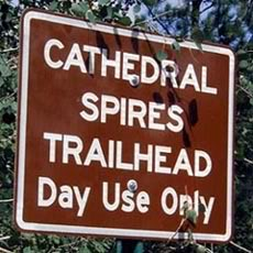 Cathedral Spires Trailhead