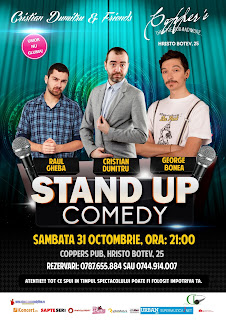 stand-up comedy bucuresti sambata 31 octombrie