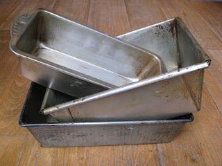 Steel loaf pans or tins