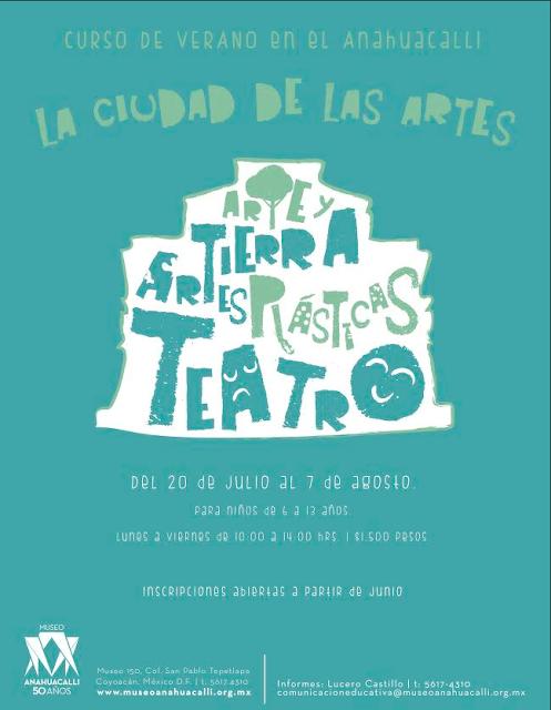 """El Museo Anahuacalli presenta """"La ciudad de las artes"""" para la temporada de Verano"""