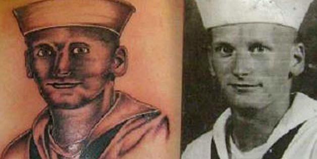 Horrorosos tatuajes de retratos