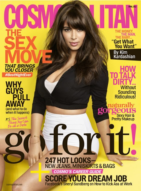 Kim Kardashian cosmo april 2013