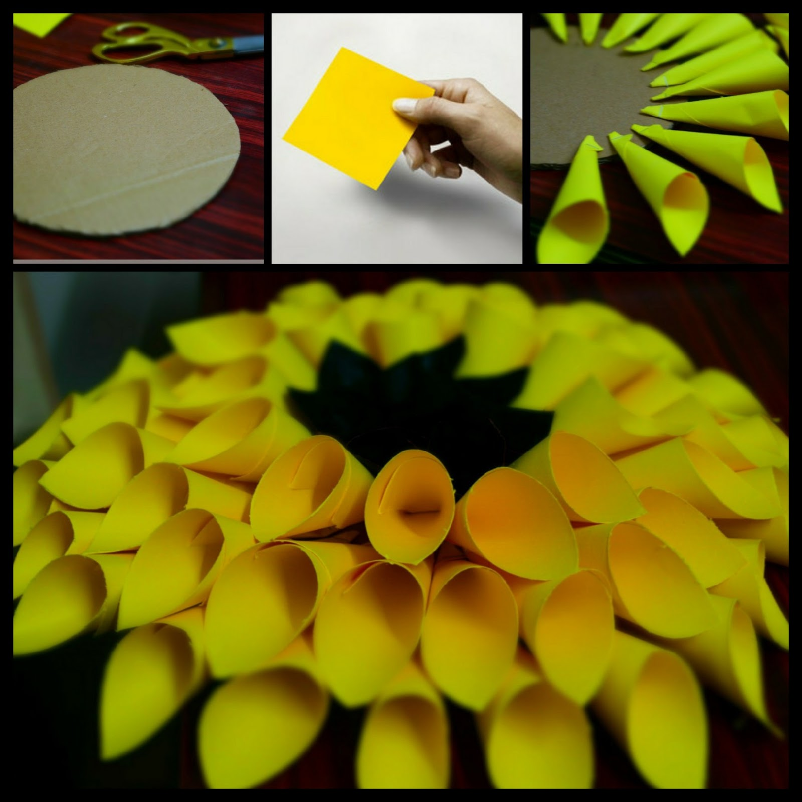 Colored Chalks: DIY Giant Paper Sunflower