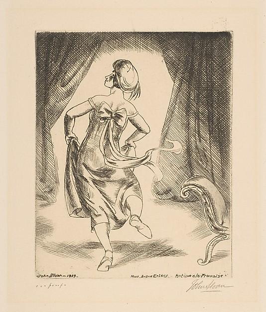 1929 Antique à la Française etching
