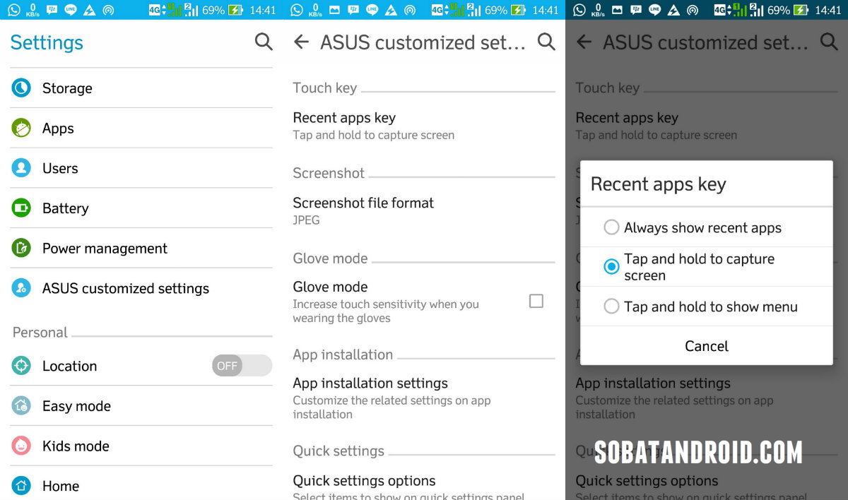 Cara Screenshot ASUS ZenFone 2