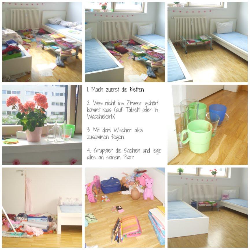 """Ein """"verwüstetes"""" Kinderzimmer in 15 min aufräumen"""