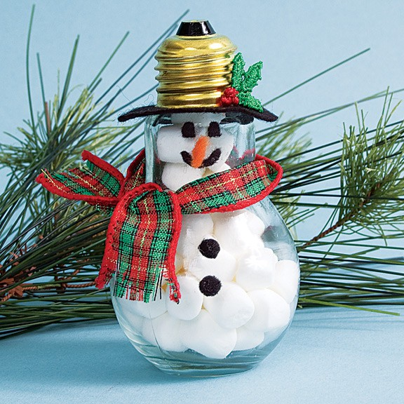 How to recycle recycled snowman christmas decor for Recycled decoration