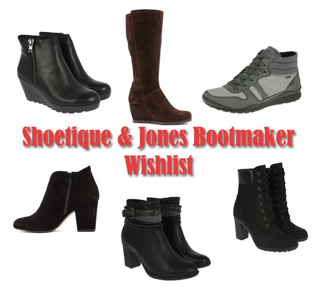 Shoetiwue and Jones Bootmaker A/W Boots Wishlist