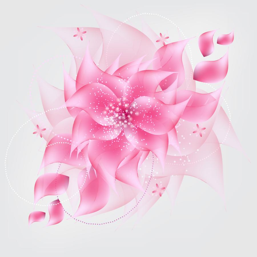 淡いピンクの花ビラ背景 romantic flower background イラスト素材