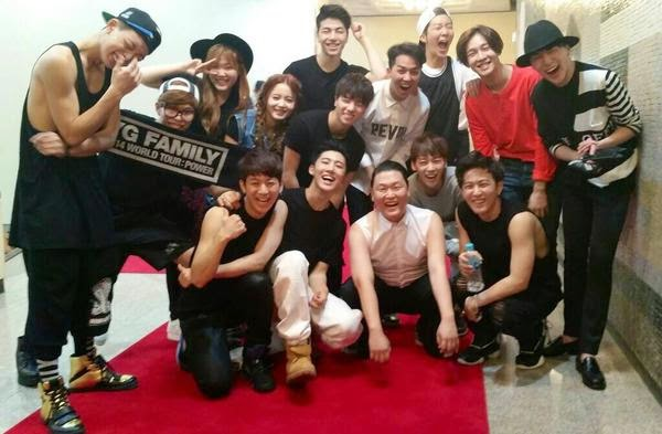 team a and b meet yg family eng sub