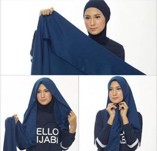 Tutorial Hijab Satin - Langkah 1