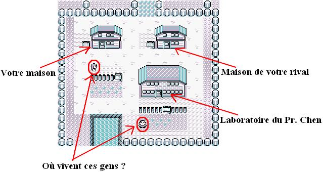 La carte de Bourg Palette, 3 maisons, pour 5 habitants, et pas de pont pour les 2 restants...