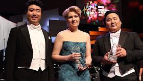 BBC Cardiff Singer of the World 2015 - Jongmin Park (song), Nadine Koutcher (main), Amartuvshin Enkhbat (audience).Photo Brian Tarr