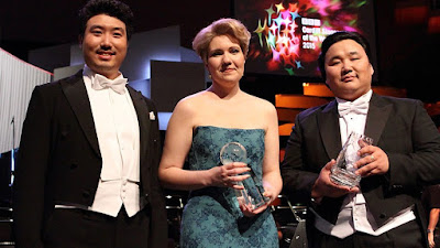 BBC Cardiff Singer of the World 2015 - Jongmin Park (song), Nadine Koutcher (main), Amartuvshin Enkhbat (audience).Photo Brian Tarr