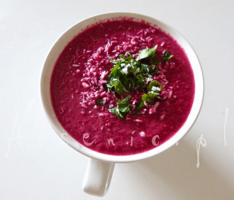 Wściekle różowa zupa - krem z buraczków i mleka kokosowego