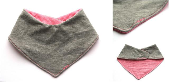 Marjoleinmaakt.blogspot.com: bib roze met grijs