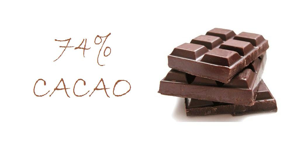 74% cacao