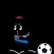 サッカー日本代表のイラスト(ぴょこ)