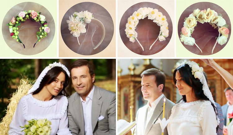 Ободки на свадьбу с цветами