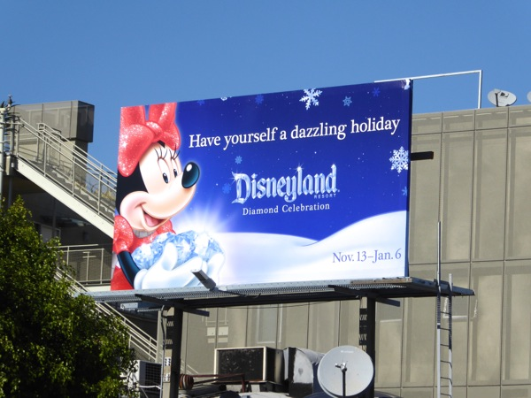 Minnie Mouse Disneyland dazzling holiday billboard