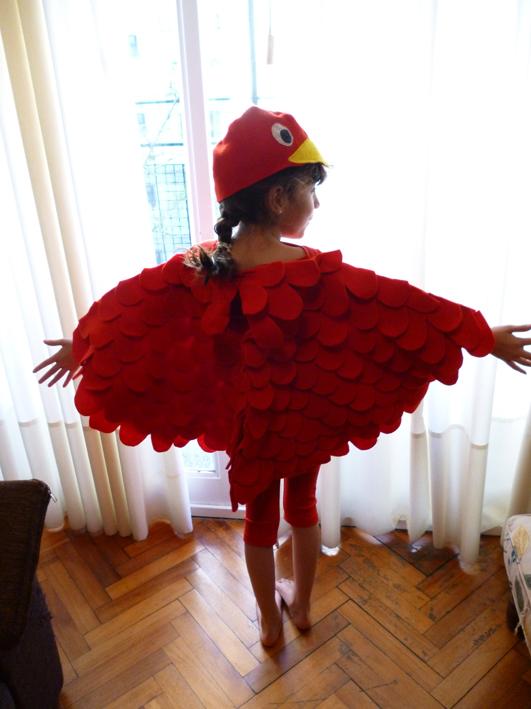 Gardelina: Disfraz de pájaro para mi hija