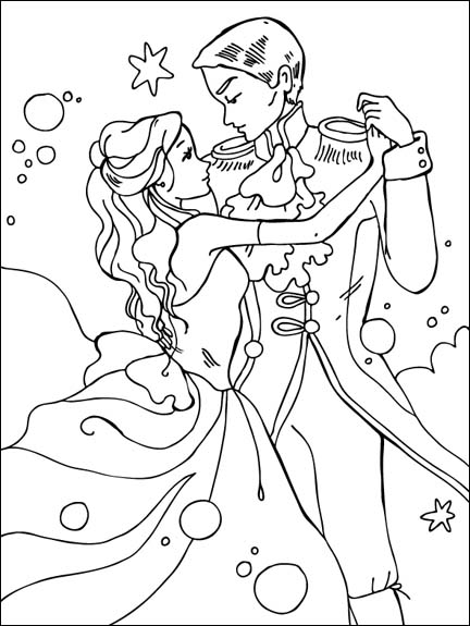 Disney Princess and Prince Dancing
