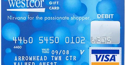 Westcor Gift Card Balance Check