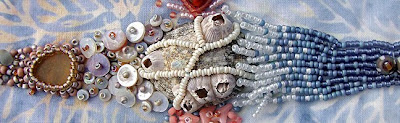 Robin Atkins bead embroidery, Ocean, BJP, detail