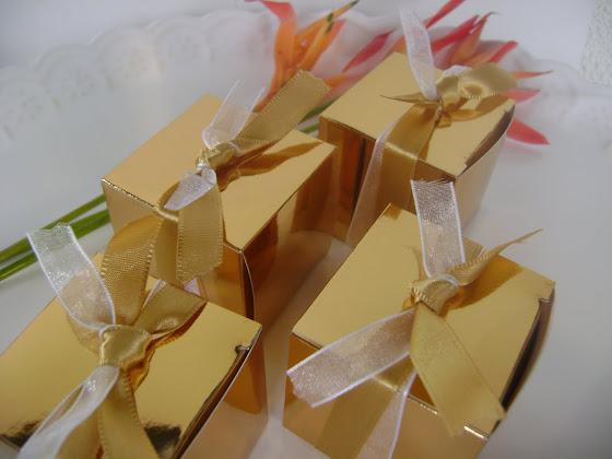 caixinhas douradas