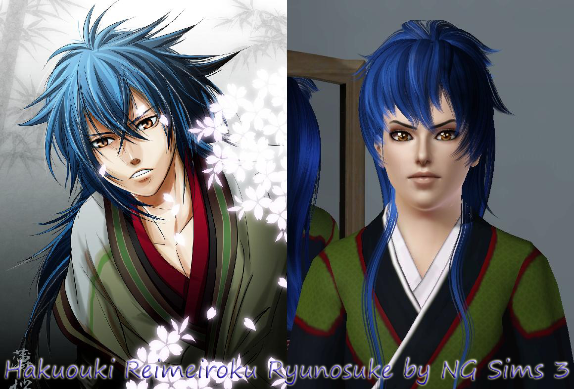 Sims 3 Anime Characters : Ng sims anime male hair