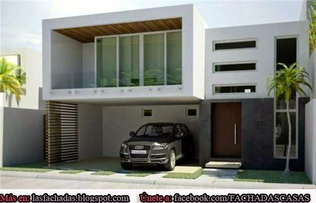 Fachadas de casas modernas con cochera fachadas de casas for Disenos de casas modernas por dentro