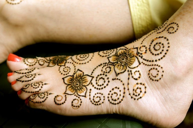 Indian Mehndi Designs for feet & hands