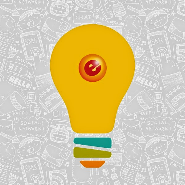 A yellow lightbulb with an eGumball, Inc. logo on it with a grey background.