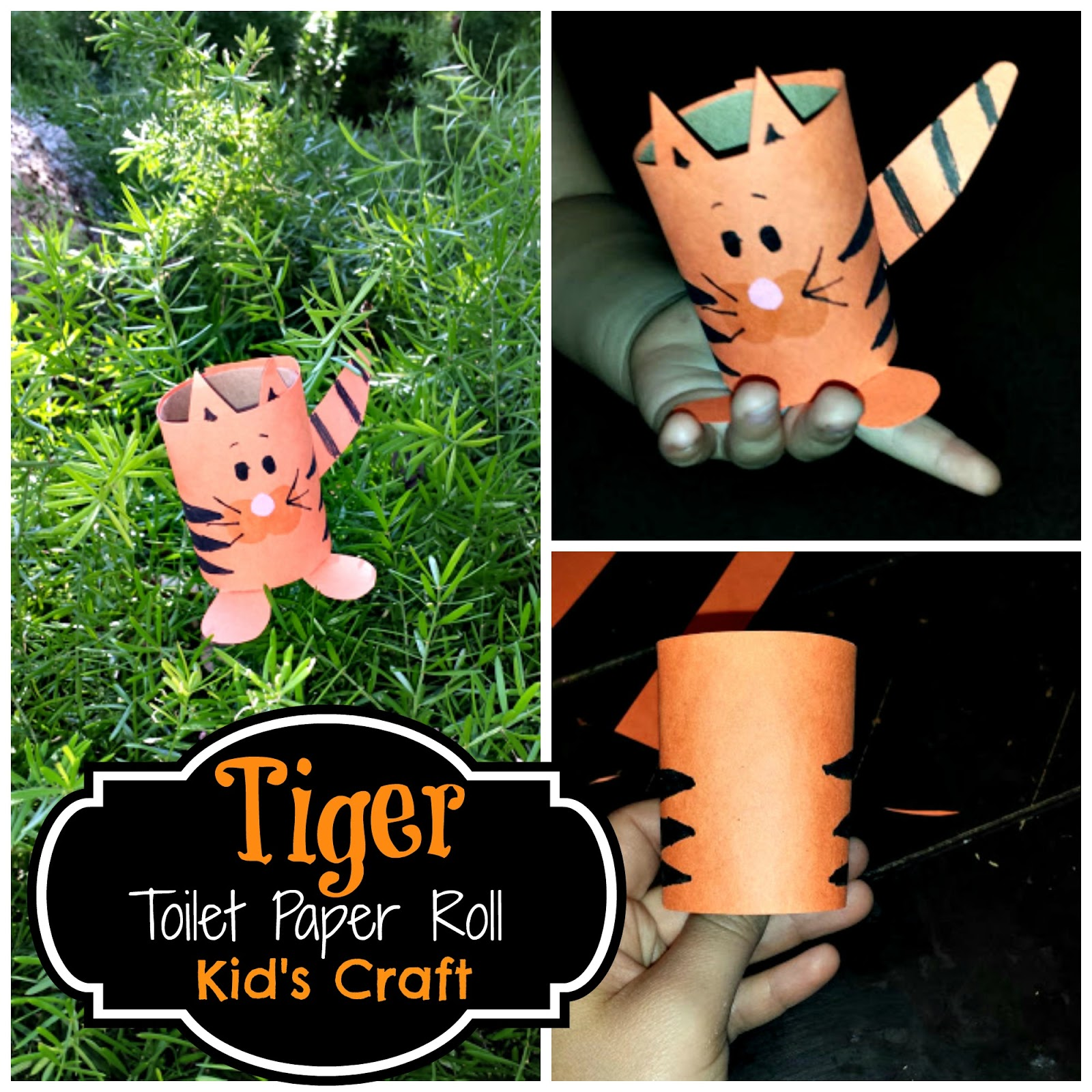 diy easy tiger toilet paper roll craft for kids crafty morning