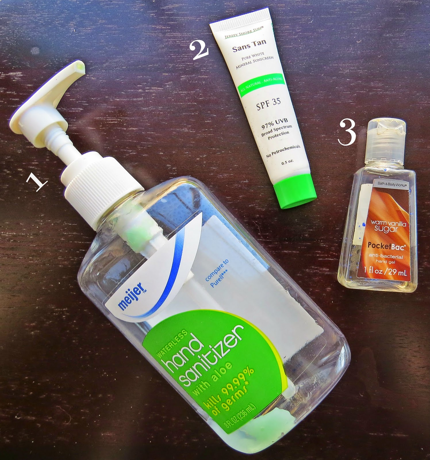 Hand Sanitizer, Sans Tan, Bath & Body Works