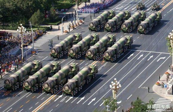 Rudal Balistik DF-31A saat parade militer China