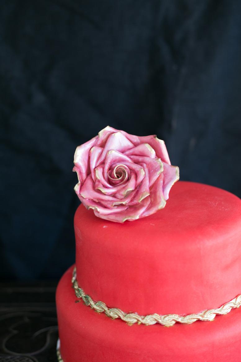 pastel rojo