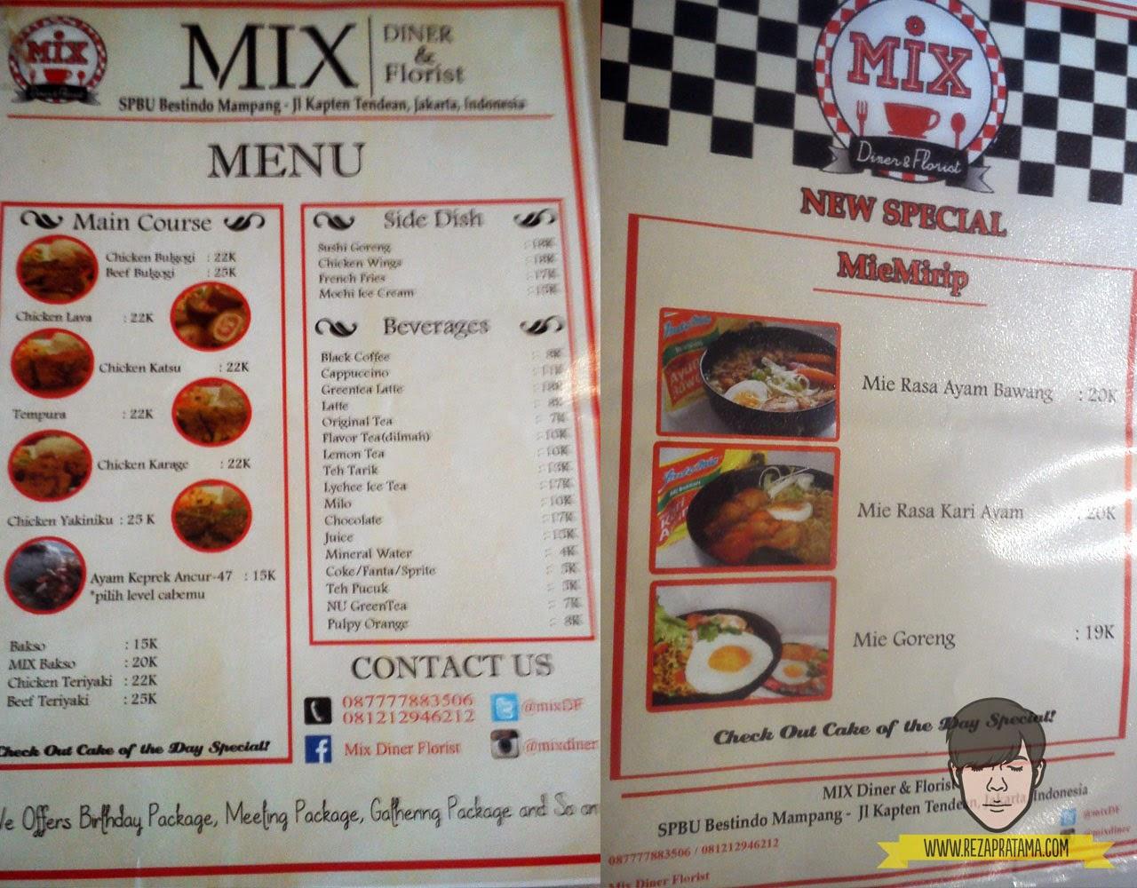 menu mix diner & florist - rezapratamacom