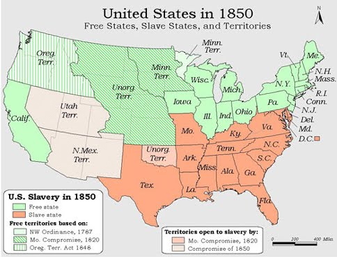 United States Map State Map Us 1850 Map