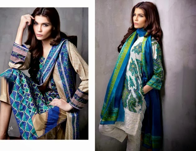 Stylish Printed Suits in Lawn