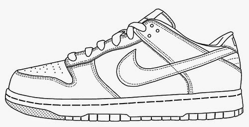 Nike Shoes Coloring Page Kids Coloring Page