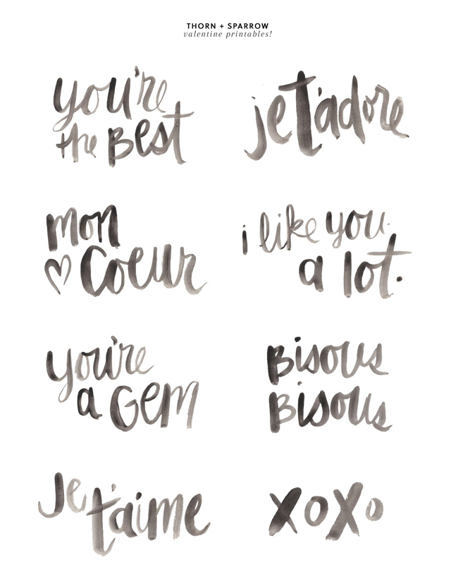 Printable Valentine Messages