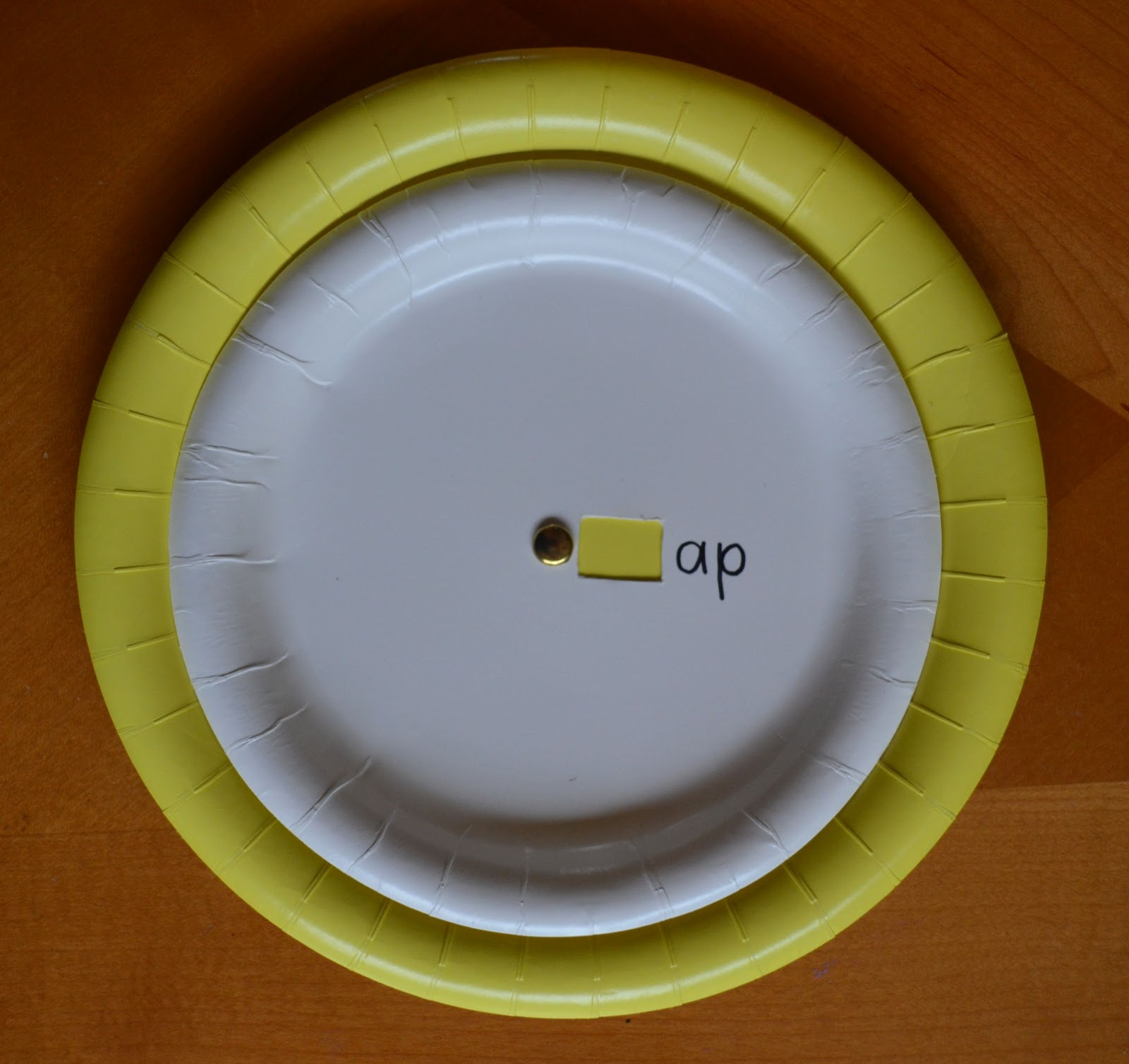 come together kids word family spinners from paper plates