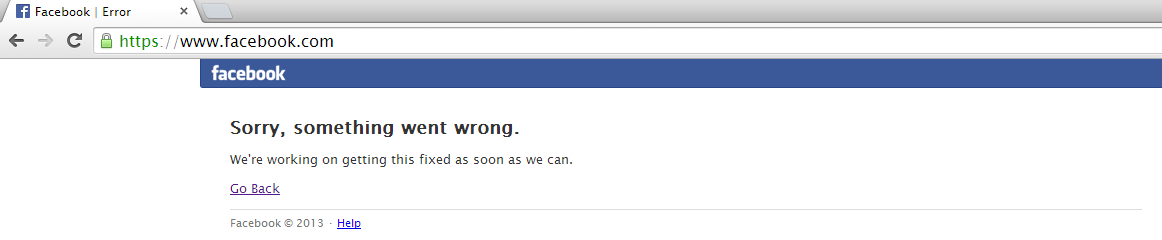 Facebook Goes Down In Global Outage, facebook downtime, facebook suffers downtime.
