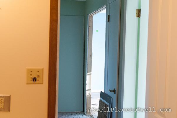 upstairs hallway progress