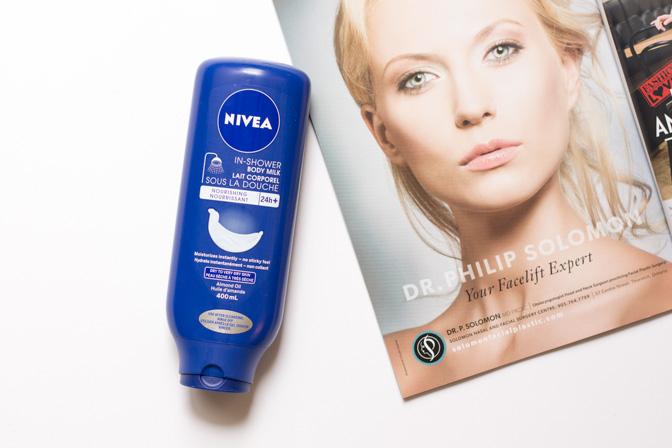 nivea in shower body milk lotion review dry skin